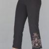 Organic Cotton Capri Yoga Pant with Hand Painted Mehndi Design by Blue Lotus Yogawear