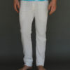 Men's Organic Cotton 4-Way Stretch Yoga Pant - Kundalini White by Blue Lotus Yogawear. Pre-Shrunk, Easy Care, Made in USA
