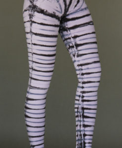 Organic Cotton Bengal Tiger Tie Dye Ankle Length Yoga Legging- Rose Quartz by Blue Lotus Yogawear
