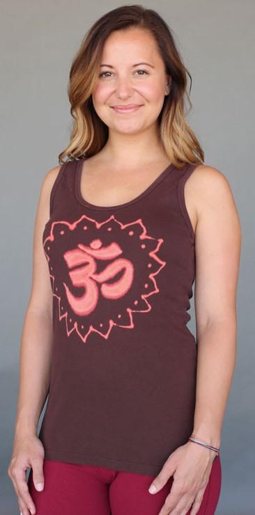 Om Symbol Yoga Tank Top - Chocolate by Blue Lotus Yogawear
