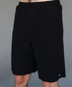 Men's Cotton Yoga Short With Pockets- Black - by Blue Lotus Yogawear