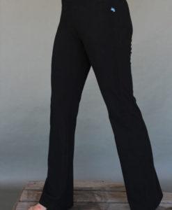 Organic Cotton Flare Leg Yoga Pant- Black by Blue Lotus Yogawear