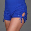 """Brazilian Butt Lift"" Yoga Short- Royal Blue Organic Cotton by Blue Lotus Yogawear"