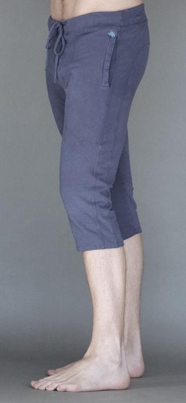 Men's Organic Cotton 4-way Stretch Capri Yoga Pant- Indigo by Blue Lotus Yogawear