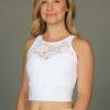 Organic Cotton Lace Yoke Tankini - Kundalini White by Blue Lotus Yogawear