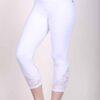Organic Cotton Lace Calf Capri Yoga Legging- Kundalini White by Blue Lotus Yogawear
