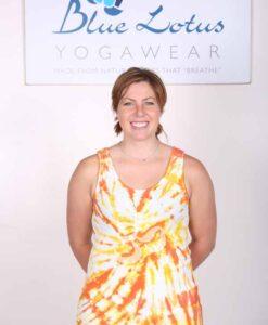 Om Symbol Yoga Tank Top - Orange Tie Dye by Blue Lotus Yogawear
