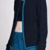 Organic Cotton Heart Zip Sweat Top- Navy by Blue Lotus Yogawear