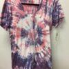 100% Cotton Spiral Tie Dye OM Yoga Tee- Pink-Lilac by Blue Lotus Yogawear