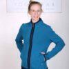 Organic Cotton Heart Zip Sweat Top- Teal by Blue Lotus Yogawear