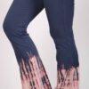 Organic Cotton Bleach Tie Dye Flare Leg Yoga Pant - Indigo by Blue Lotus Yogawear