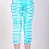 Organic Cotton Crop Yoga Legging - Aqua Bengal Tiger Tie Dye- back by Blue Lotus Yogawear