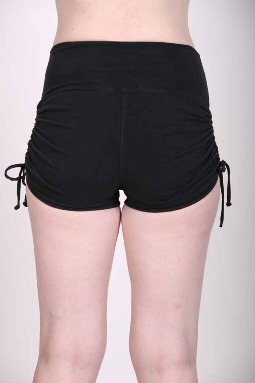 """Brazilian Butt Lift"" Yoga Short- Black Organic Cotton back by Blue Lotus Yogawear"