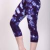 Organic Cotton Crop Yoga Legging - Deep Purple Crystal Dye by Blue Lotus Yogawear