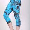 Organic Cotton Crop Yoga Legging - Turq Brown Crystal Dye by Blue Lotus Yogawear