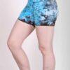 Organic Cotton Short - Turq Tie Dye by Blue Lotus Yogawear