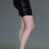 Organic Cotton Lace Inset Short - Black by Blue Lotus Yogawear