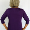 3/4 Sleeve Organic Cotton Aura Burst Tee- Back by Blue Lotus Yogawear