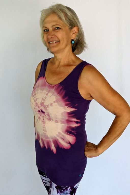 Aura Burst Tie Dye Yoga Tank Top - Purple by Blue Lotus Yogawear