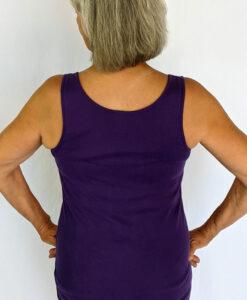 Aura Burst Tie Dye Yoga Tank Top - Purple Back by Blue Lotus Yogawear