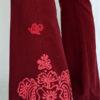 Organic Cotton Mehndi Design Flare Leg Yoga Pant - Wine Detail