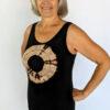 Aura Burst Tie Dye Yoga Tank Top - Black by Blue Lotus Yogawear