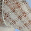 Light Weight Cotton Novelty Plaid Sweater - Ivory Detail by Blue Lotus Yogawear
