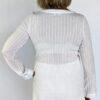 Gauze Long Sleeve Dress - Kundalini White Back by Blue Lotus Yogawear