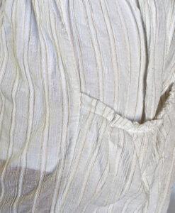 Gauze Long Sleeve Dress - Kundalini White Fabric Detail