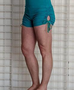 """Brazilian Butt Lift"" Yoga Short- Jade Organic Cotton by Blue Lotus Yogawear"