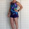"""Brazilian Butt Lift"" Yoga Short- Purple Organic Cotton Outfit by Blue Lotus Yogawear"