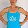 Organic Cotton Lotus Cami with Adjustable Straps- Turquoise by Blue Lotus Yogawear