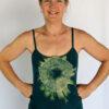 Organic Cotton Aura Burst Cami with Adjustable Straps- Jade by Blue Lotus Yogawear