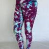 Crystal Dye High Waist Ankle Length Yoga Legging- Lilac by Blue Lotus Yogawear