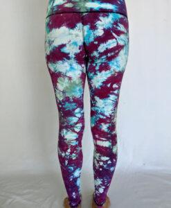 Crystal Dye High Waist Ankle Length Yoga Legging- Lilac Back by Blue Lotus Yogawear
