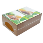 la solution économique Jacketpack composée d'une ceinture en carton autour du lot de produits et emballée sous film