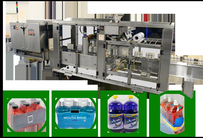 Serie CFH máquinas de empaque con película plástica termoencogible de cierre continuo de alta velocidad