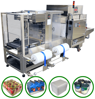 Continuous Motion Shrink Wrapper