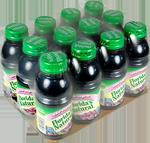 bouteilles regroupées sur une plaque en carton et sous film transparent