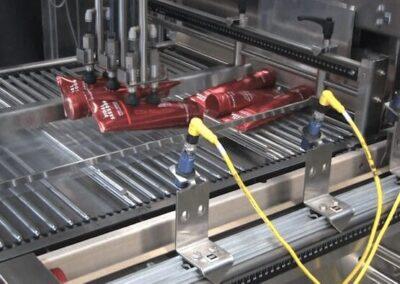 transferencia de tubos directamente sobre la película plástica