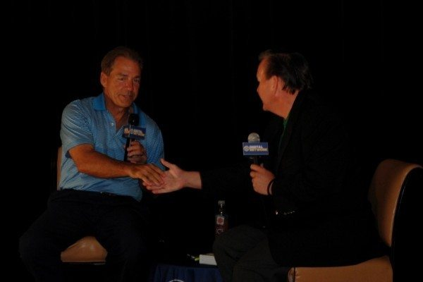 Alabama Football Coach Nick Saban interviewed on SEC Digital Network live at SEC Spring Meetings in Sandestin