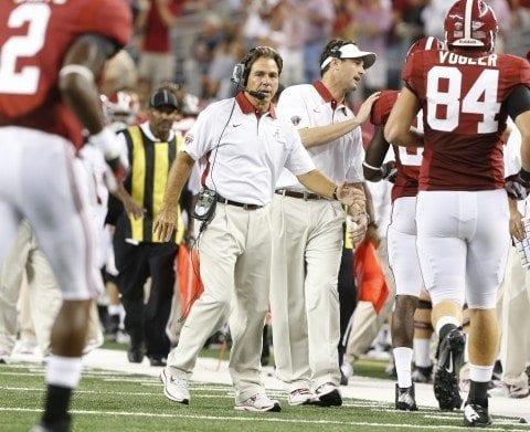 Alabama Coach Nick Saban and the Alabama Crimson Tide face Tennessee Saturday.