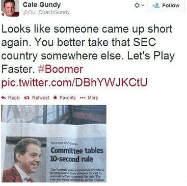 gundy tweet