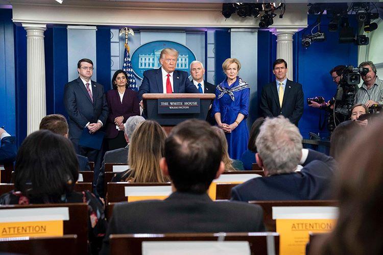 Donald Trump briefing China Virus Coronavirus