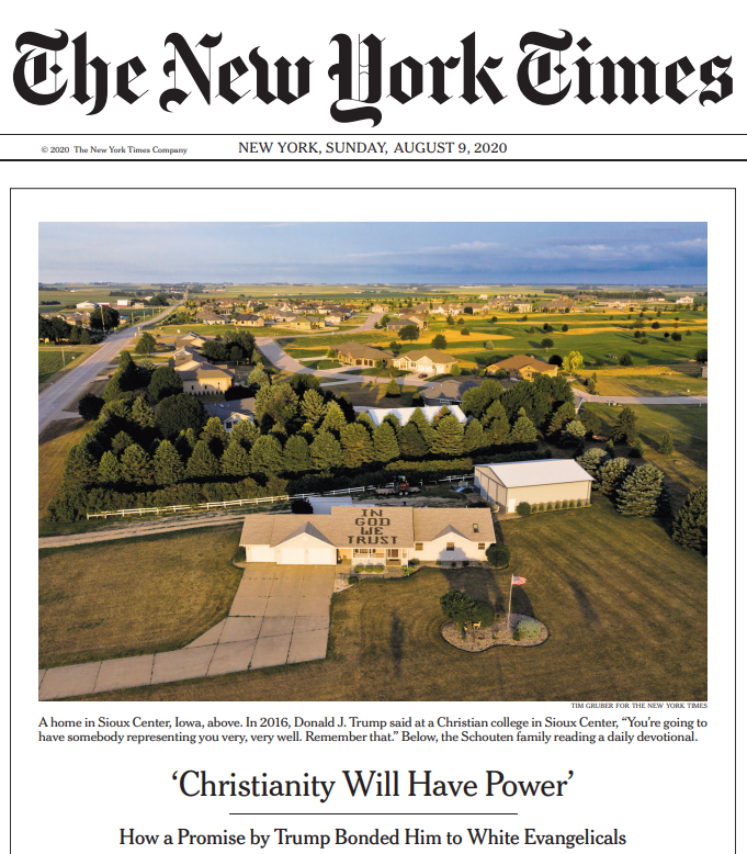 NY Times: Why won't Evangelicals commit political suicide?
