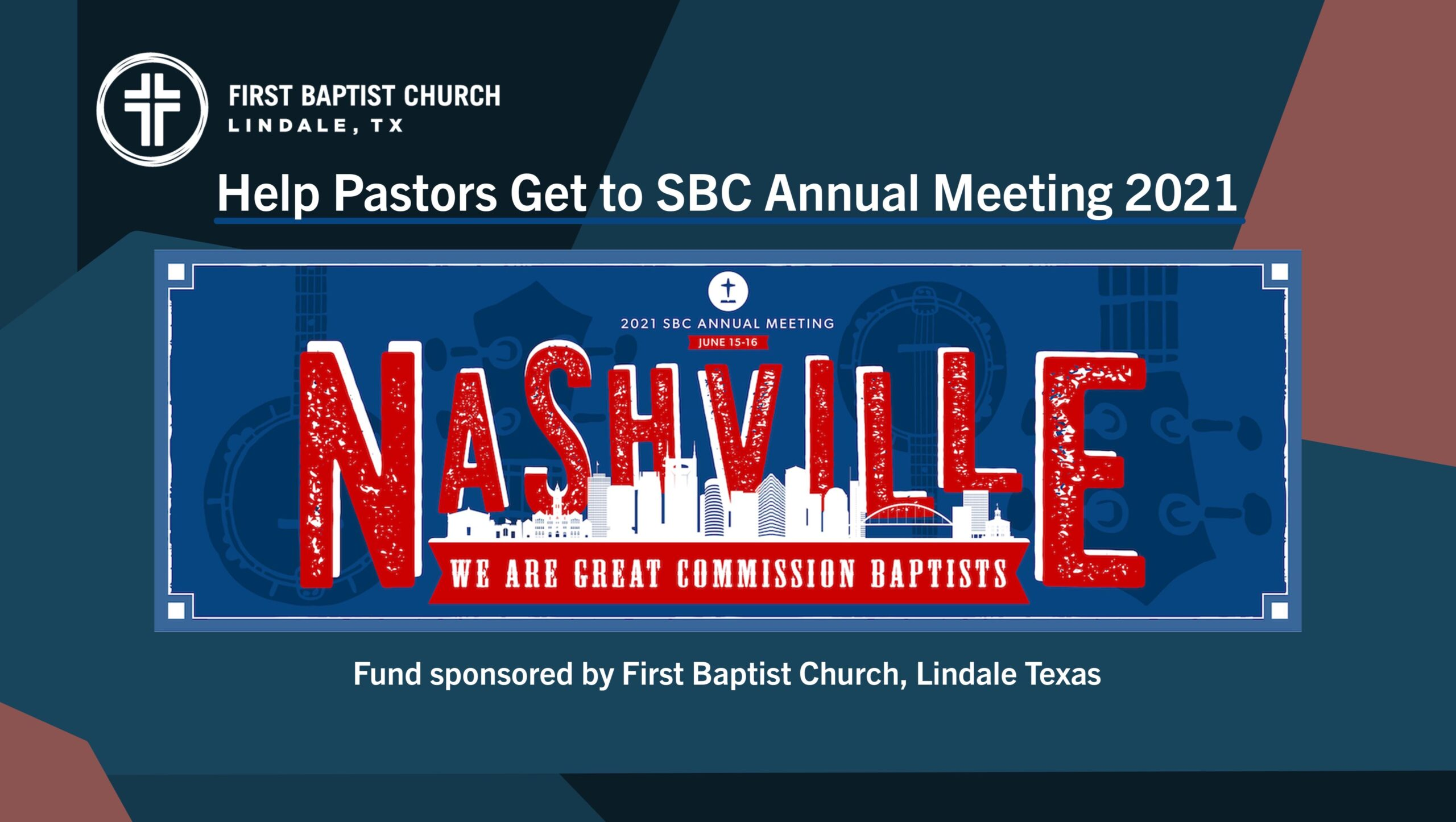 Help Conservative Pastors Get to Nasvhille to Stop the Liberals and Save the Southern Baptist Convention