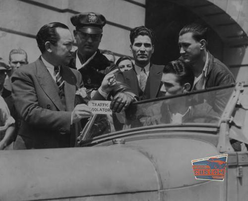 1930's – 40's Traffic Violator Decal