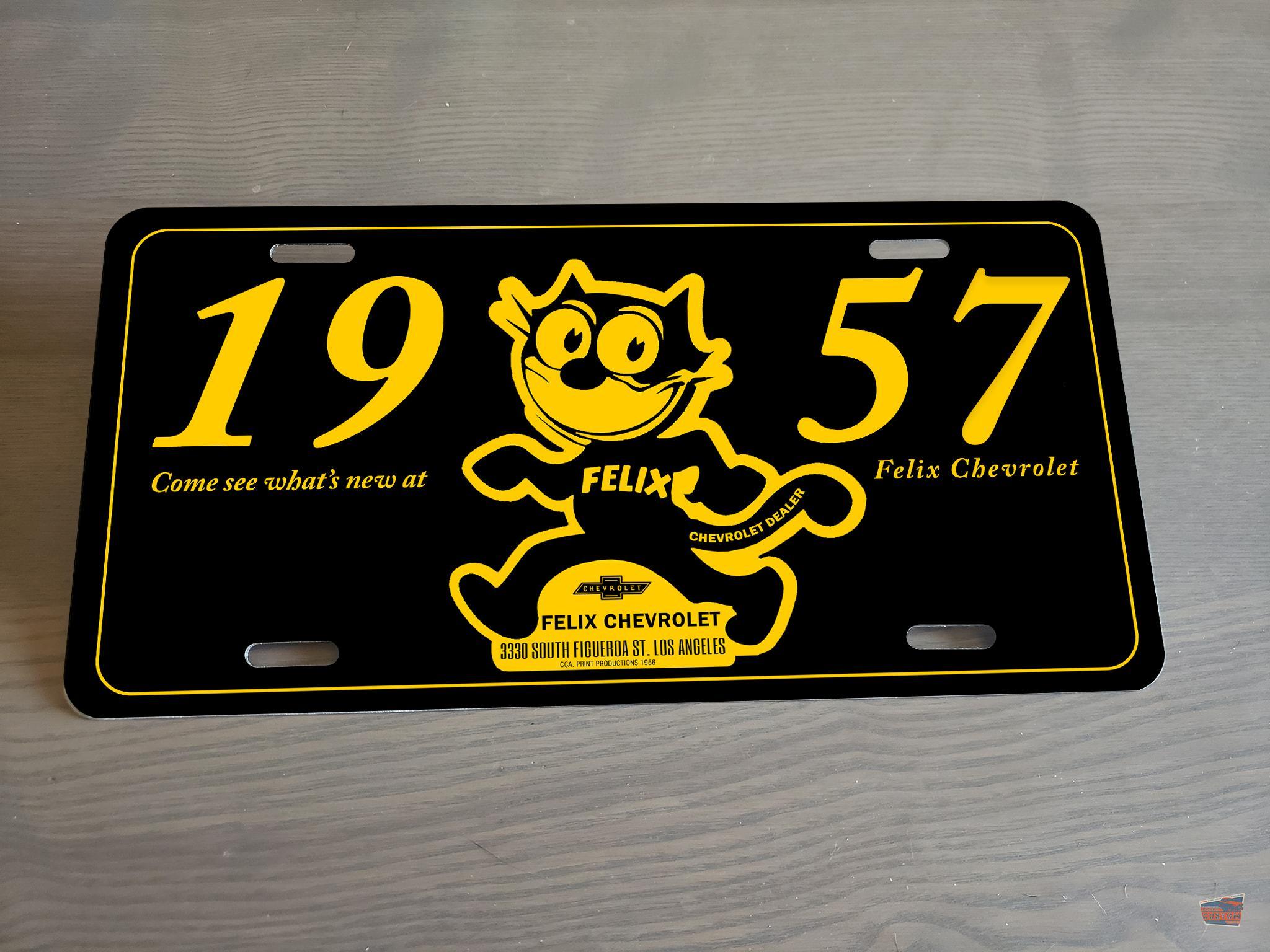 Customizable Felix License Plate