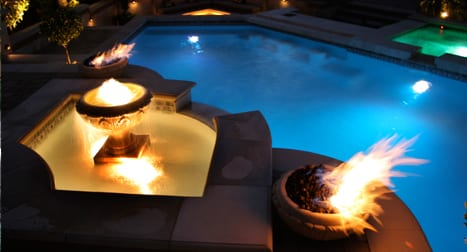 poolside fire features