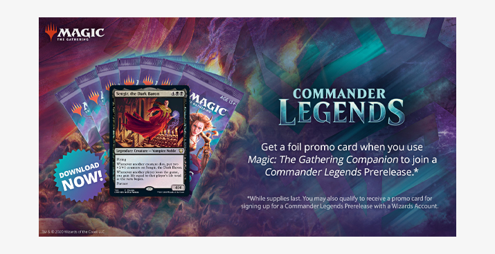 Commander Legends Take Home Prerelease